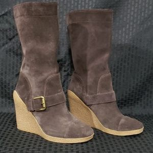 Nine West Suede Wedged Boots